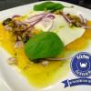 Orangen-Carpaccio mit Büffelmozzarella und Sonnenblumenkern-Vinaigrette