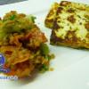 Roter lauwarmer Linsensalat mit Gazi-Käse
