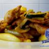 Paprika-Hähnchen mit Schupfnudeln
