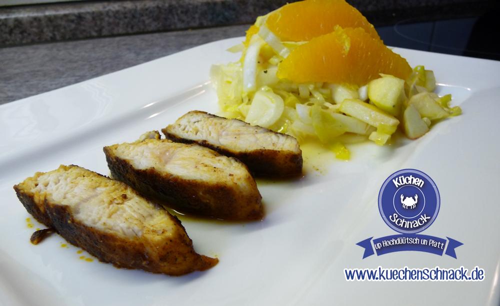 Chicorée-Apfel-Salat mit Orangen