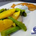 SPargel-Orangen-Salat mit Stremel-Lachs