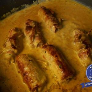 Italienisches Schnitzel in Rahmkräuter-Jus