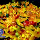 Orientalische Ebly-Pfanne mit Zucchini