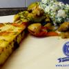 Lauwarmer Pfannensalat mit Frischkäse-Topping