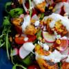 Rucola-Salat mit Curry-Chicken Nuggets