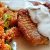 Afrikanischer Catfisch mit Minzjoghurt an feurigem Bulgursalat