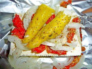 Feta aus dem Ofen mit Pepperonie