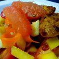 Sellerie-Grapefruit-Salat mit Cajun-Huhn