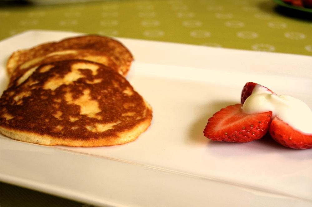 Low Carb Pancakes aus Mandelmehl