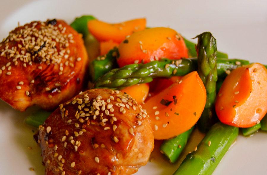 Aprikosen-Spargel-Salat